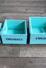 Set of boxes 3 small turquoise