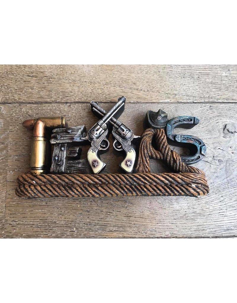Beeldje pistolen Texas