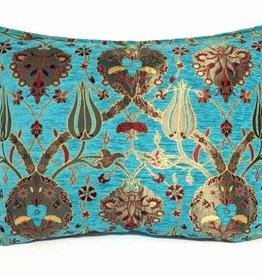 esperanza-deseo Flowers turquoise pillow case / cushion cover ± 50x70cm