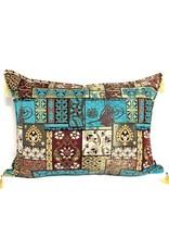 esperanza-deseo Patchwork brown kussenhoes/cushion cover ± 50x70cm