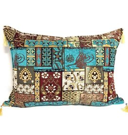 esperanza-deseo Patchwork brown pillow case / cushion cover ± 50x70cm
