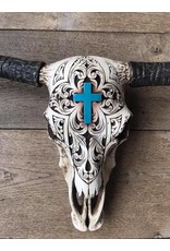 Damn Skull ecru cross