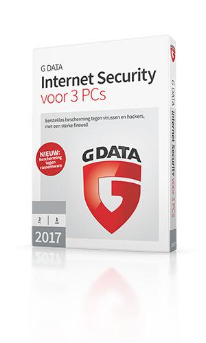 G DATA Internet Security – 12 maanden voor 3 pc's