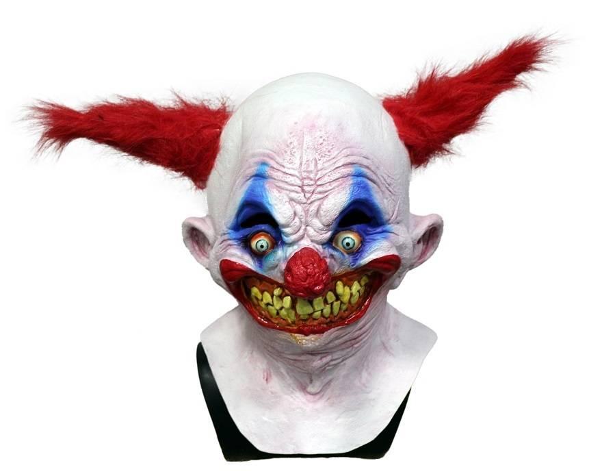 Latex horror Clown Mask - MisterMask.nl Scary Halloween Clown Masks
