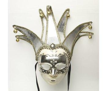 Venetiaans Joker masker (zilver)