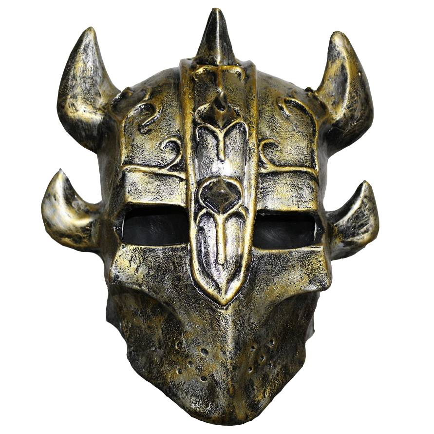 Knight mask - horned helmet - MisterMask.nl Scary Halloween Clown Masks