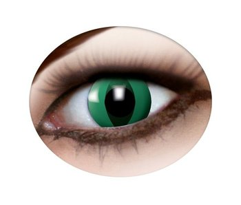 Cat eye lenses green