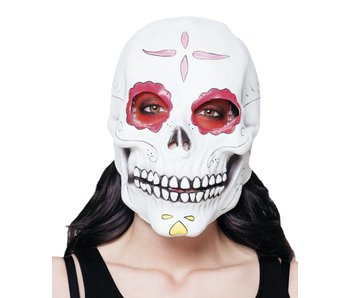 Latex head mask Señora Calavera