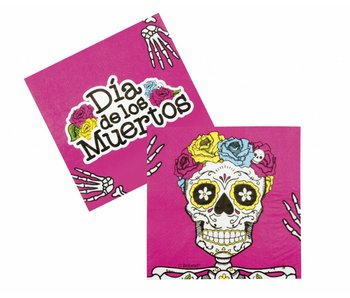 Set 12 Servetten Day of the dead (33 x 33 cm)