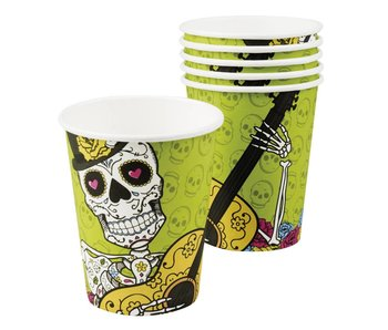 Set 6 Bekertjes Day of the dead (25 cl)