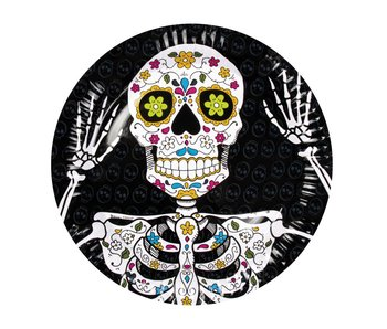 6 Plates Day of the dead 23cm