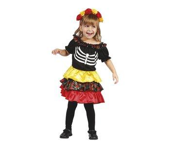 Kinderkostuum Pequeña Catrina (3-4 jaar)
