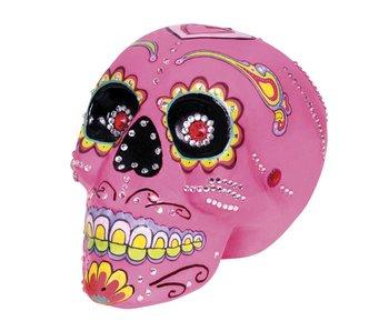 Sugar skull pink 20x14cm