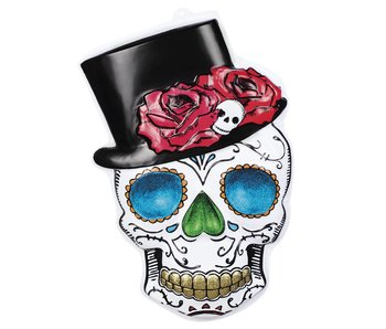 PVC wanddecoratie Mr Day of the dead (66 x 44 cm) brandvertragend