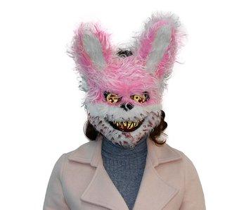 Halloween masker 'roze horror beer'