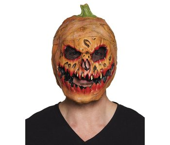 Latex head mask Pumpkin