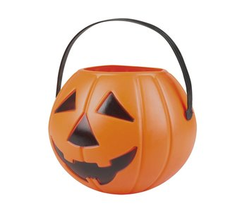Pumpkin bucket orange 14x16cm