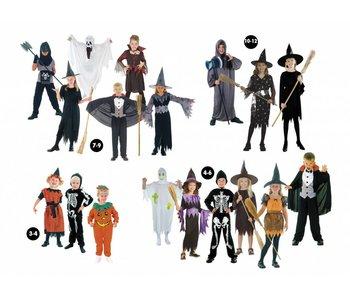 Kinderkostuum Halloween assortiment (jongen/meisje) 18 ass.