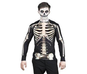 Fotorealistisch shirt Skeleton (L)