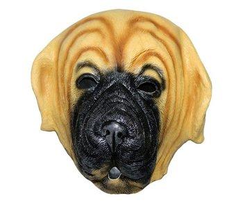 Dog mask 'bulldog' - brown