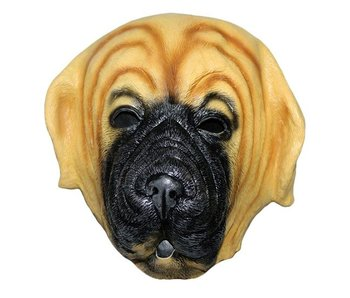 hondenmasker 'bulldog' (bruin)