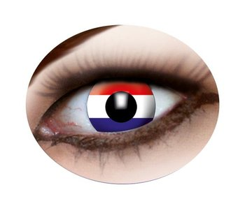 Party eye lenses (Dutch flag)