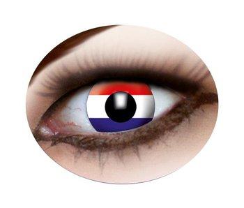 Party eye lenses (Dutch flag)