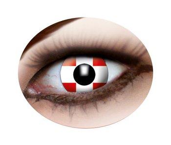 Swiss flag lenses