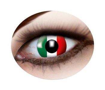 Italian flag eyes lenses