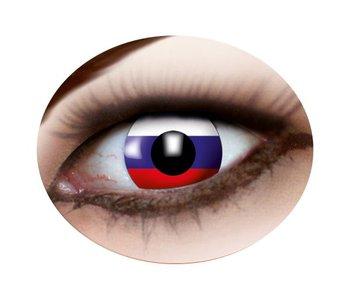 Russian flag eyes lenses