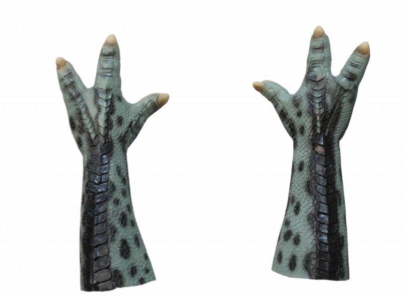 Animal gloves / props (green)