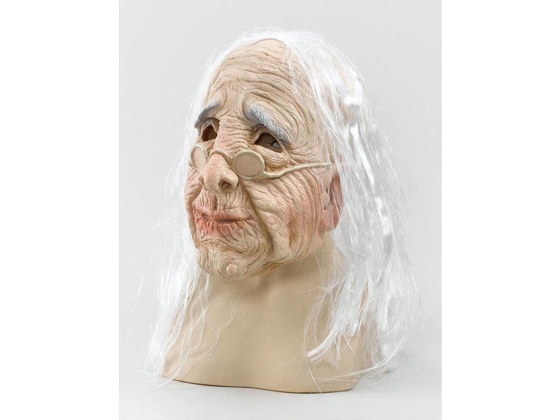 Oude vrouw masker