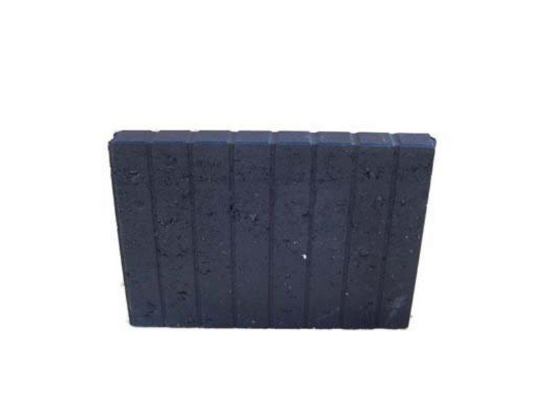 Blokjesband Zwart