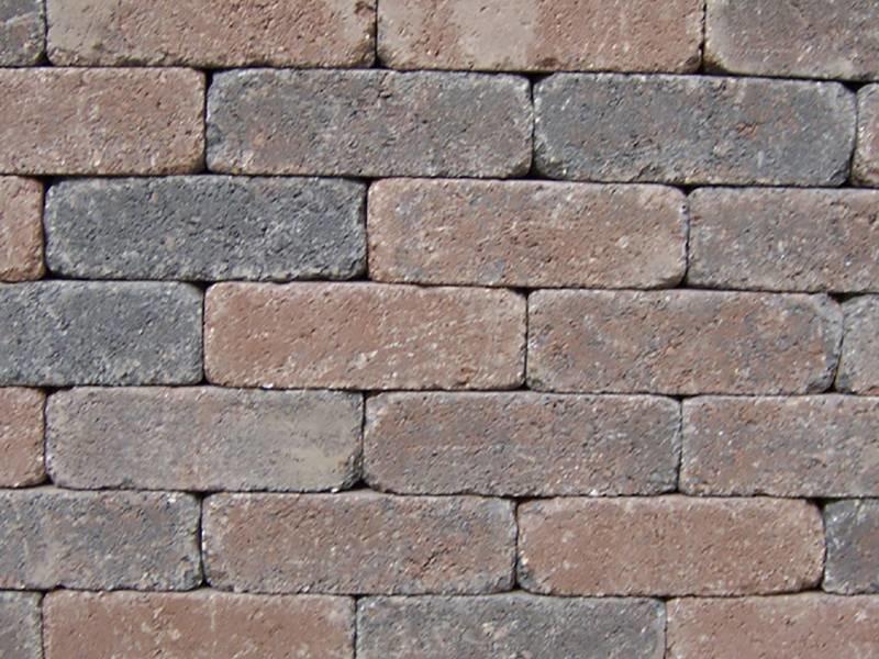 Dikformaat Bruin/Zwart Getrommeld 20X6,5x6,5 cm