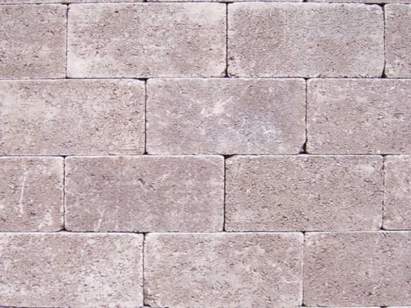 Keiformaat Kastanje bruin Getrommeld 21X10,5x7 cm