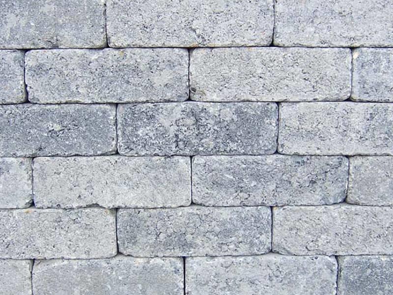 Rijnformaat Grijs Zwart Getrommeld 15x5x7,5 cm