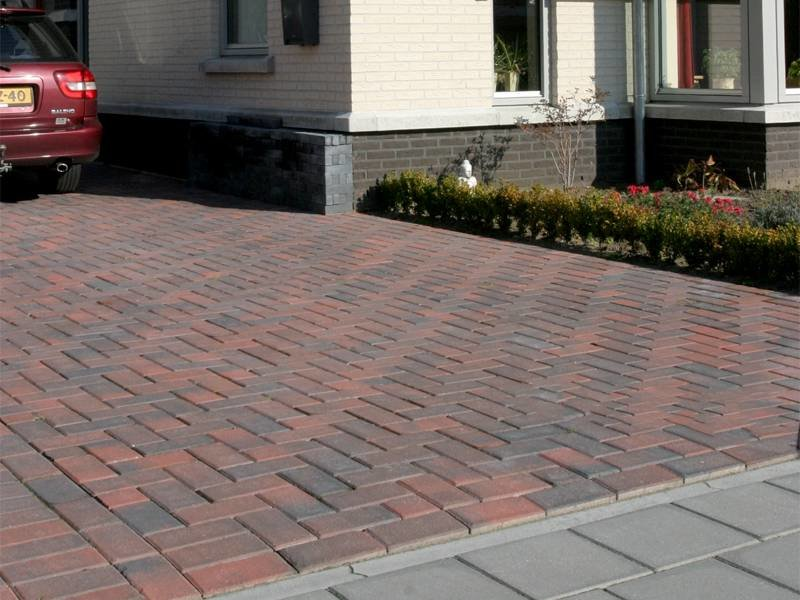 Betonklinker BKK Rood/Zwart 21x10,5x7 cm