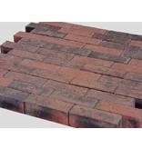 Dikformaat Rood / Zwart Facet 21x7x7 cm