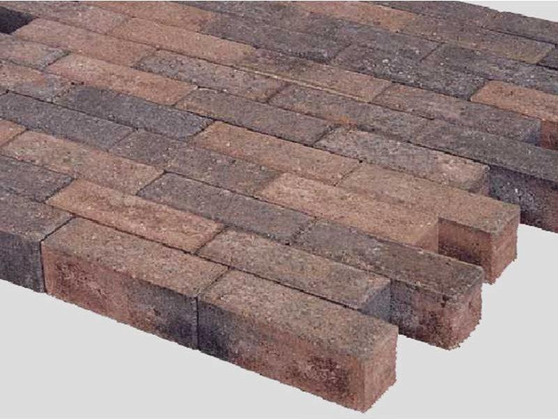 Dikformaat Bruin / Zwart Facet 21x7x7 cm