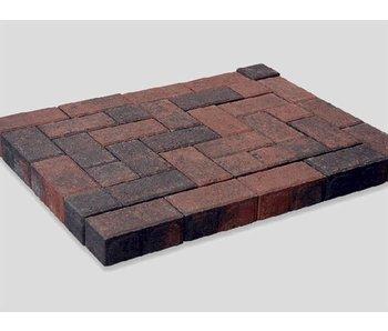 Betonklinker BKK Rood/Zwart Genuanceerd 21x10,5x8 cm
