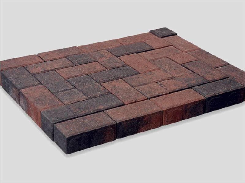 Betonklinker Rood/Zwart Genuanceerd 21x10,5x8 cm