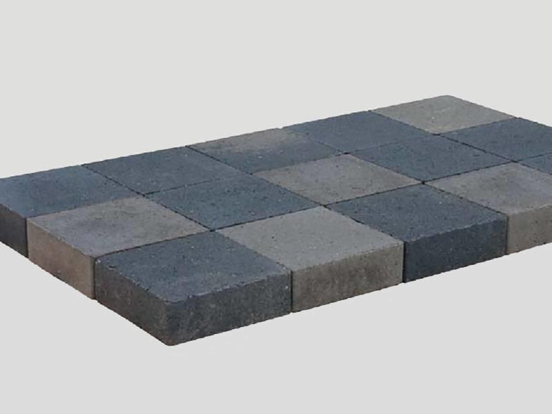 kobbelstone Grijs/Zwart Strak