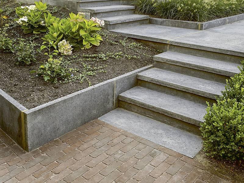 Traptrede l model 100x40 15 reijmer sierbestrating natuursteen - Buiten terras model ...