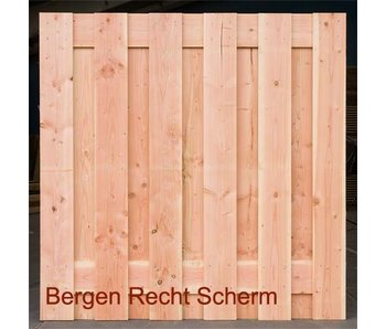 Bergen Recht Scherm / Deur Blank