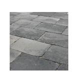 Trommelsteen Grijs/Zwart 20x30x6 cm