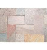 216 m2 Kwartsiet multicolor 30x60x1,2cm
