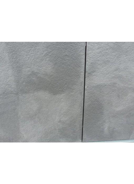 Exclusieve terrastegel 60x60x4 Antraciet/zilver genuanceerd