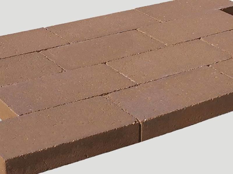 Stunt kobbelstone Terracotta Strak 42x31,5x7