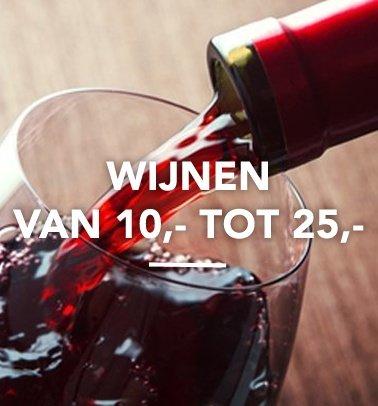 Wijnen van 10,- tot 25,-
