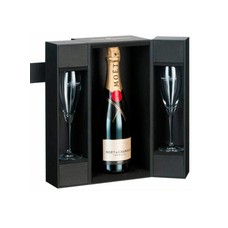 Moet & Chandon Champagne Brut Imperial In Luxe Giftbox + 2 Glazen